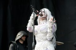 """Emily """"September Mourning"""" Lazar of September Mourning performs at Inkcarceration Music and Tattoo Festival on Saturday, Sept. 11, 2021, at Ohio State Reformatory in Mansfield, Ohio. (Photo by Amy Harris)"""