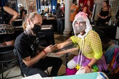Festival goers get tattoos at Inkcarceration